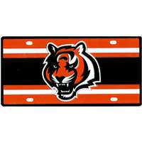Cincinnati Bengals Full Color Super Stripe Inlay License Plate