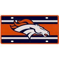 Denver Broncos Full Color Super Stripe Inlay License Plate