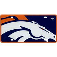 Denver Broncos Full Color Mega Inlay License Plate