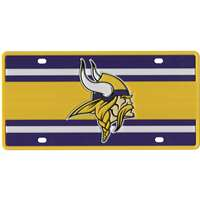 Minnesota Vikings Full Color Super Stripe Inlay License Plate