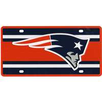 New England Patriots Full Color Super Stripe Inlay License Plate