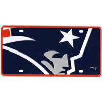 New England Patriots Full Color Mega Inlay License Plate