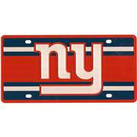 New York Giants Full Color Super Stripe Inlay License Plate