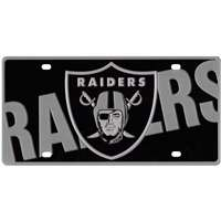 Oakland Raiders Full Color Mega Inlay License Plate