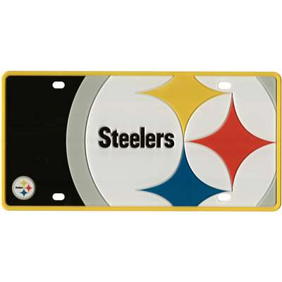 Pittsburgh Steelers Full Color Mega Inlay License Plate