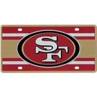 San Francisco 49ers Full Color Super Stripe Inlay License Plate