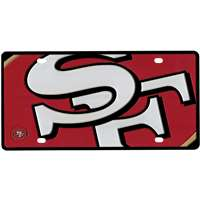 San Francisco 49ers Full Color Mega Inlay License Plate