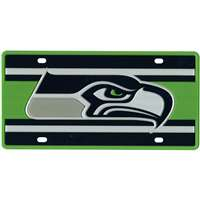 Seattle Seahawks Full Color Super Stripe Inlay License Plate
