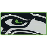 Seattle Seahawks Full Color Mega Inlay License Plate