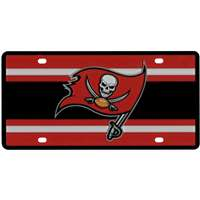Tampa Bay Buccaneers Full Color Super Stripe Inlay License Plate