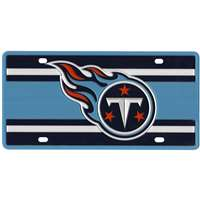 Tennessee Titans Full Color Super Stripe Inlay License Plate