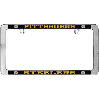 Pittsburgh Steelers Thin Metal License Plate Frame