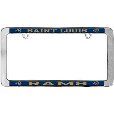 St. Louis Rams Thin Metal License Plate Frame