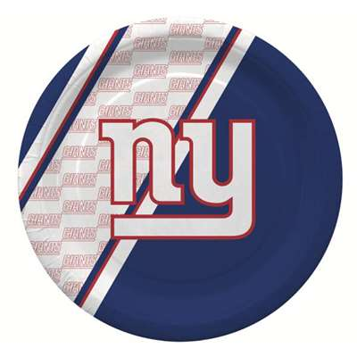 New York Giants Disposable Paper Plates - 20 Pack