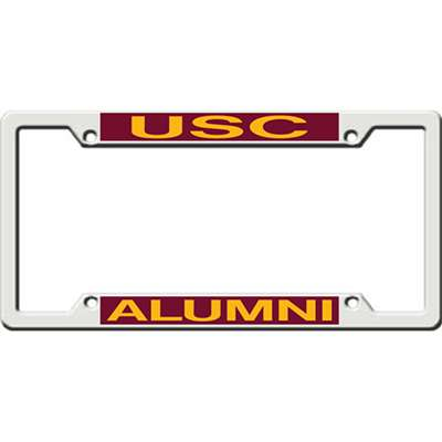 Usc Trojans Metal Alumni Inlaid Acrylic License Plate