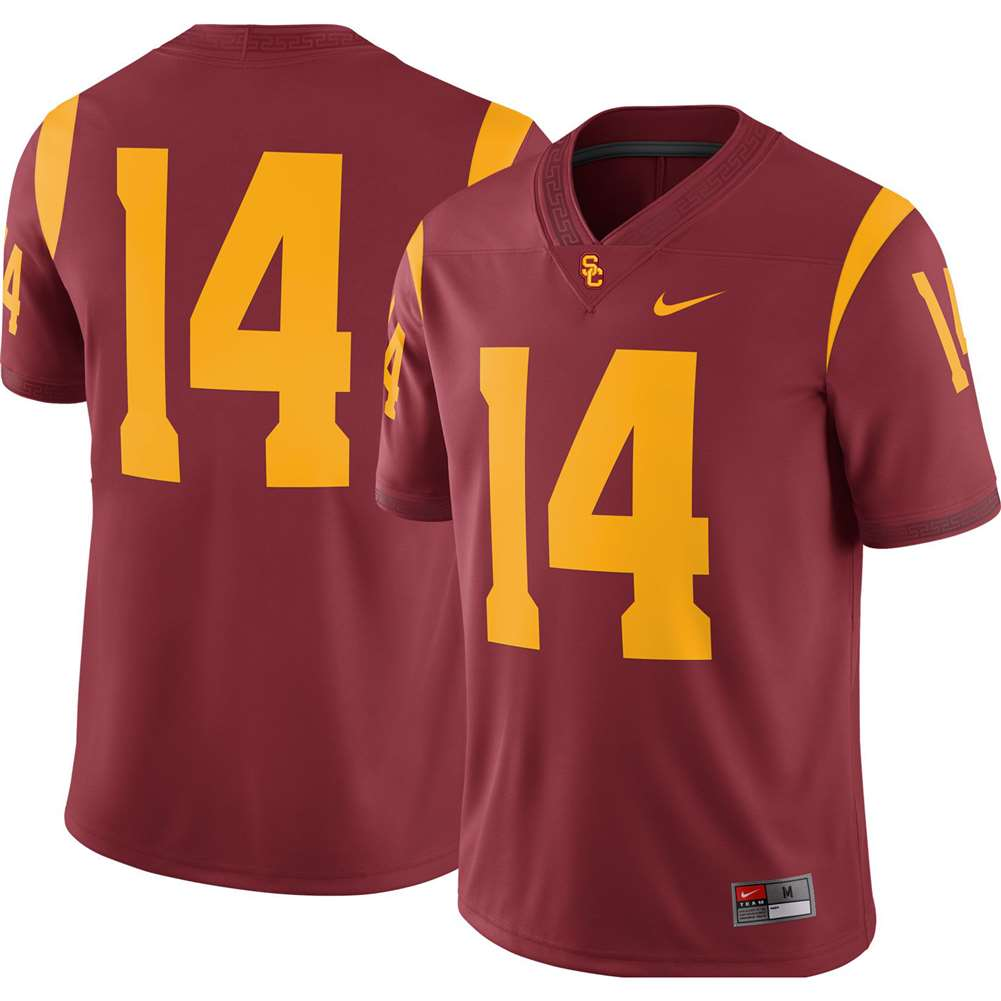 separation shoes 4f7f9 a3a9e Nike USC Trojans Youth Football Jersey - #14 Crimson