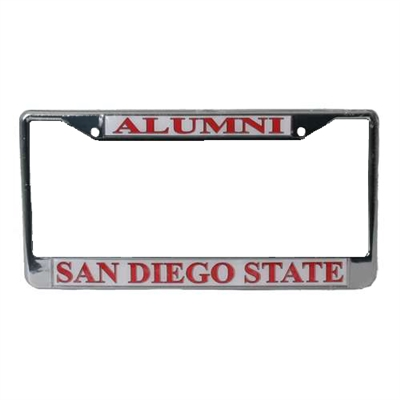 San Diego State Aztecs Alumni Metal License Plate Frame W