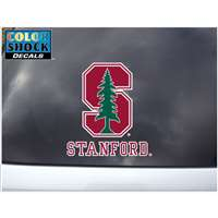 Stanford Cardinals Decal - S Logo Over Stanford