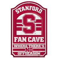 Stanford Cardinal Fan Cave Wood Sign