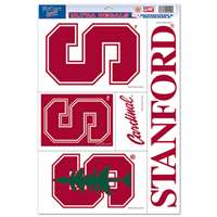 Stanford Cardinal Ultra Decal Set - 11'' X 17''