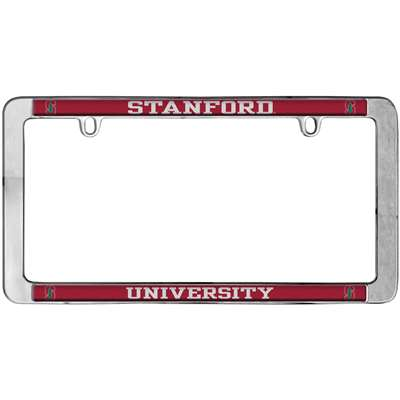 Stanford Cardinal Thin Metal License Plate Frame