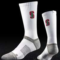 Stanford Cardinal Strapped Fit 2.0 Socks - White
