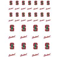 Stanford Cardinal Small Sticker Sheet - 2 Sheets