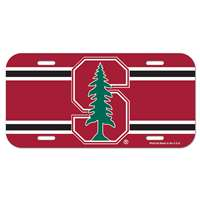Stanford Cardinal Plastic License Plate
