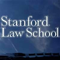 Stanford Cardinal Decal - School of Law - White