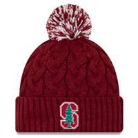 Stanford Cardinal New Era Women's Cozy Cable Knit Beanie
