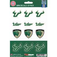 South Florida Bulls Mini Decals - 12 Pack