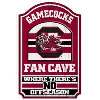 South Carolina Gamecocks Fan Cave Wood Sign