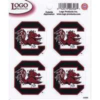 South Carolina Gamecocks Logo Decal Sheet - 4 Decals