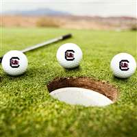 South Carolina Gamecocks Golf Balls - Set of 3