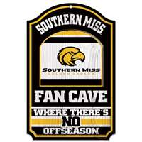 Southern Mississippi Golden Eagles Fan Cave Wood Sign