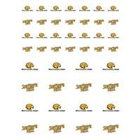 Southern Mississippi Golden Eagles Small Sticker Sheet - 2 Sheets