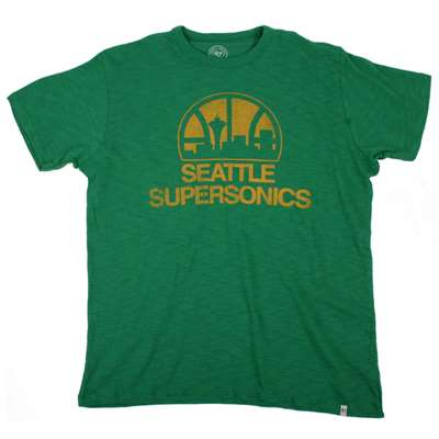 Seattle supersonics 47 brand scrum t shirt for Seattle t shirt printing