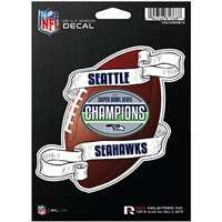 Seattle Seahawks Super Bowl Champions Die-Cut Decal