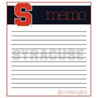 Syracuse Orange Memo Note Pad - 2 Pads
