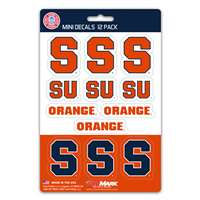 Syracuse Orange Mini Decals - 12 Pack