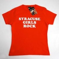 Syracuse T-shirt By Champion - Syracuse Girls Rock - Orange