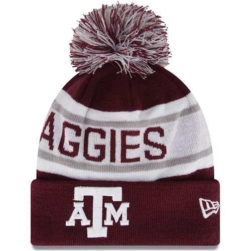 online store bc6af 28635 Texas A M Aggies New Era Biggest Fan Knit Beanie