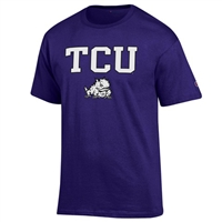 Tcu T-shirt - Purple With Arch Print