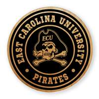 East Carolina Pirates Alderwood Coasters - Set of 4