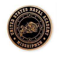 Navy Midshipmen Alderwood Coasters - Set of 4