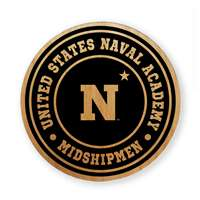 Navy Midshipmen Alderwood Coasters - Set of 4 - N w/ Star