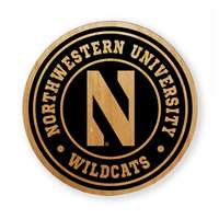 Northwestern Wildcats Alderwood Coasters - Set of 4