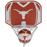 Texas Mini Basketball And Hoop Set