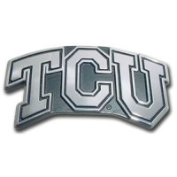 Texas Christian Horned Frogs Chrome Auto Emblem