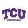 Tcu Horned Frogs Decal - Arched Tcu Over Alumni